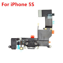 For iPhone 5S USB Charger Dock Charging Port Connector Headphone Jack Mic Flex Cable