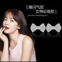 Bowknot Crystal Stud Earring for Women Korean Earrings Ladies Fashion Girl Female Ear Accessories Birthday Gift