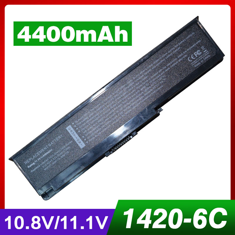 4400mah Laptop <font><b>Battery</b></font> for <font><b>Dell</b></font> <font><b>Inspiron</b></font> <font><b>1420</b></font> Vostro 1400 NR433 WW116 WW118 0FT080 0MN151 0WW116 0WW118 312-0543 312-0584 image