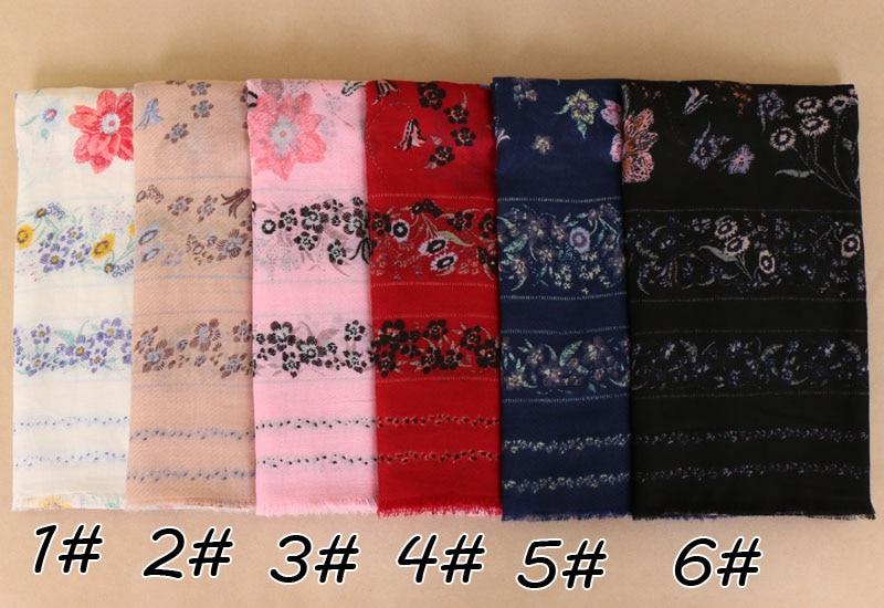 print shawls cotton viscose fringe plain hijab women   scarf     wrap   echarpe elegant muslin muffler   scarves  /  scarf   Eid gifts BS535