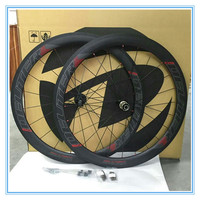 2016 New Carbon T800 Bike Wheelset 700C Clincher Wheels Road Bicycle 50mm Super Light With Hub