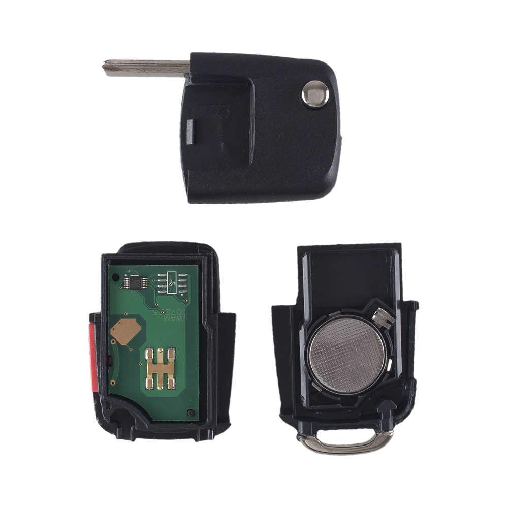 KEYYOU для VW Volkswagen Beetle CC Golf Jetta Passat GTI флип ключ Автомобильный Дистанционный входной передатчик Fob 4 кнопки 315 МГц 48 чип