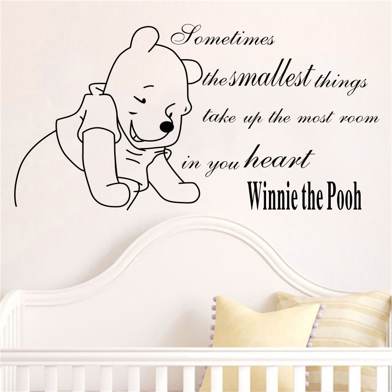 Winnie The Pooh Baby Wall Stickers Home Decoration Girls Boys