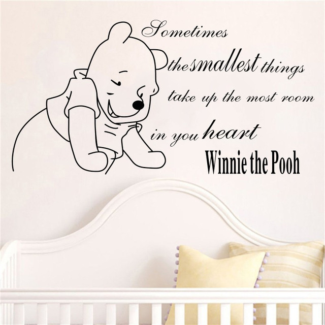 Winnie The Pooh Baby Wall Stickers home decoration Girls Boys ...