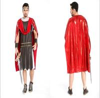 New Halloween Male Warrior Costumes Greek Emperors Clothes Pirate Clothes Gladiator Masquerade Warrior Disfraces