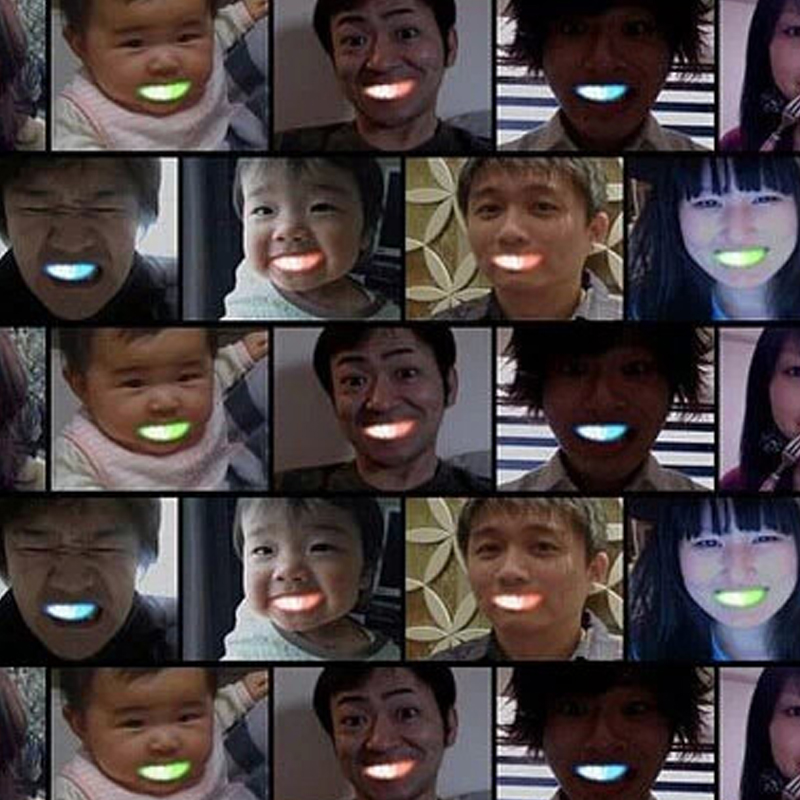 60pcs lot Colorful Flashing Flash Brace Mouth Guard Piece Festive Party Supplies Glow Tooth Funny Led