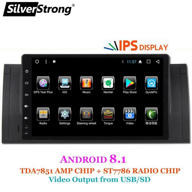 SilverStrong Android9inch GPS naviguer autoradio lecteur DVD pour BMW E53 X5 E39 M5 avec Bluetooth RDS Canbus - 5
