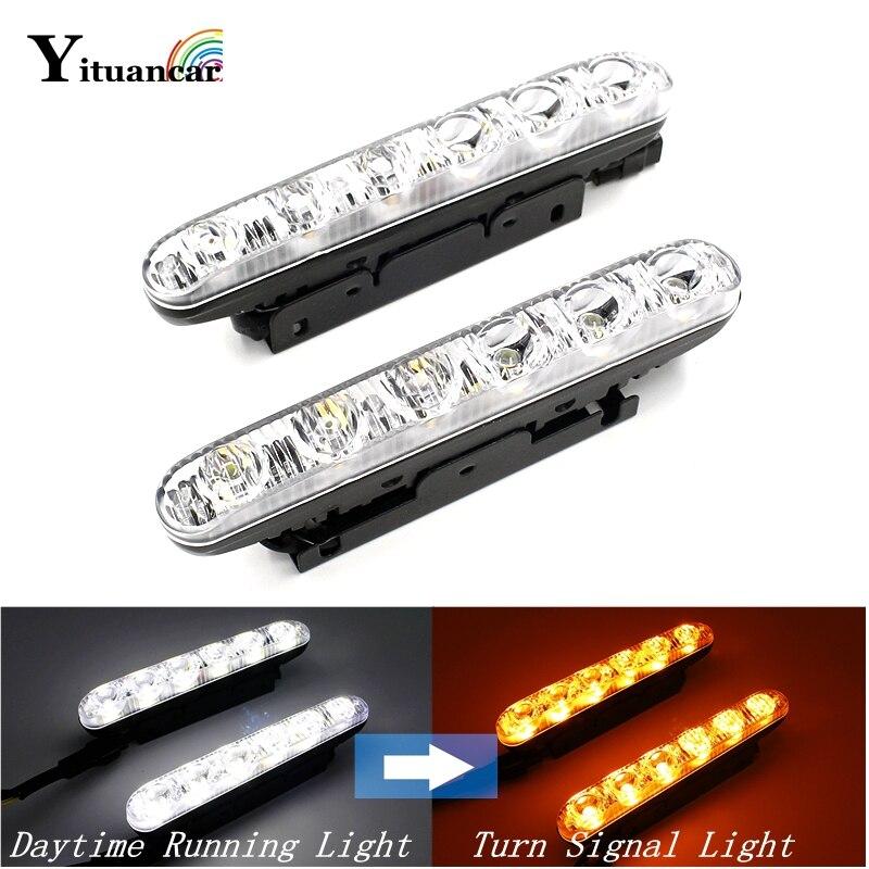 Yituancar Venta al por mayor 2X6 LED Luz de circulación diurna - Luces del coche