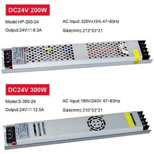 Image 4 - Ultra Dunne Led Voeding DC12V 5V 24V 200W 300W Led Driver AC190 240V Verlichting Transformers Voor led Strip Licht
