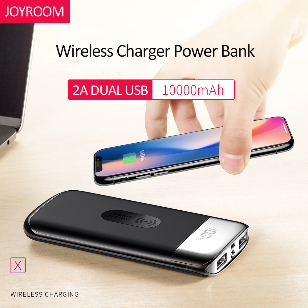 QI Wireless Charger Power Bank 10000mah Portable Dual USB 2.1A Fast Charger External Battery Powerbank for iphone X 8 Samsung S8