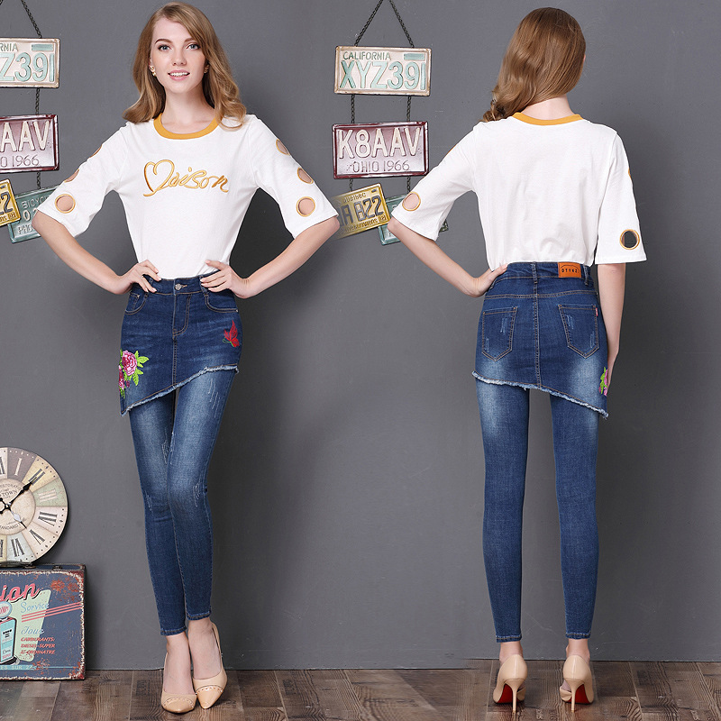 Vêtements 2 pièces jeans avec broderie ...