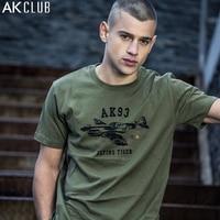 AK CLUB Brand T Shirt Flying Tigers Aircraft Print T Shirt Short Sleeve Crew Neck Tshirt