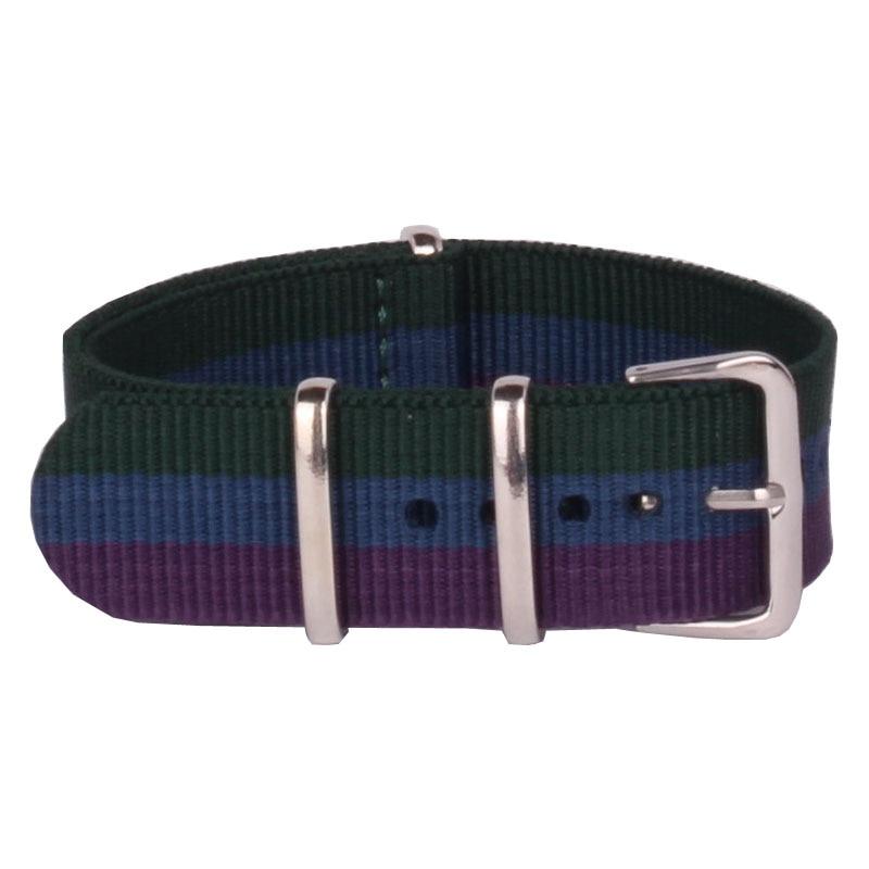 Wholesale Fashion New Watchband Men Women Stripes Cambo