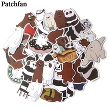 Patchfan 37pcs We bare bears cartoon funny stickers DIY scrapbooking Laptop Skateboard Motorcycle Home Decoration badges A2015