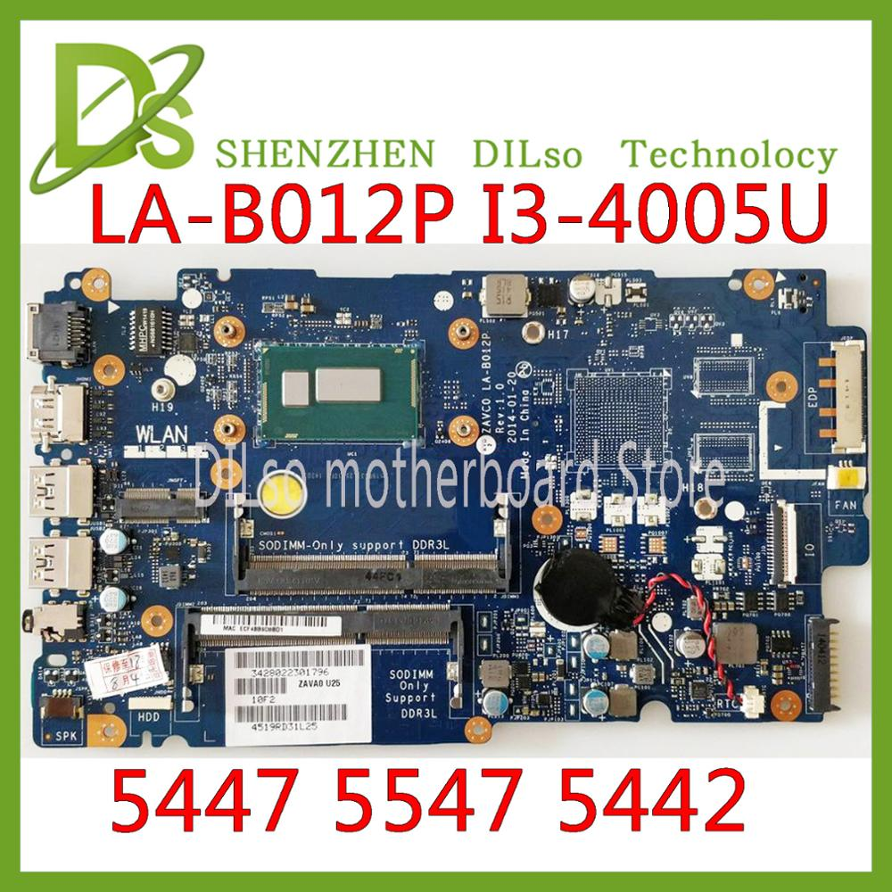 KEFU LA B012P For Dell Inspiron 5447 5547 5442 laptop motherboard LA B012P REV:1.0 I3 4005U/I3 4030U motherboard Test