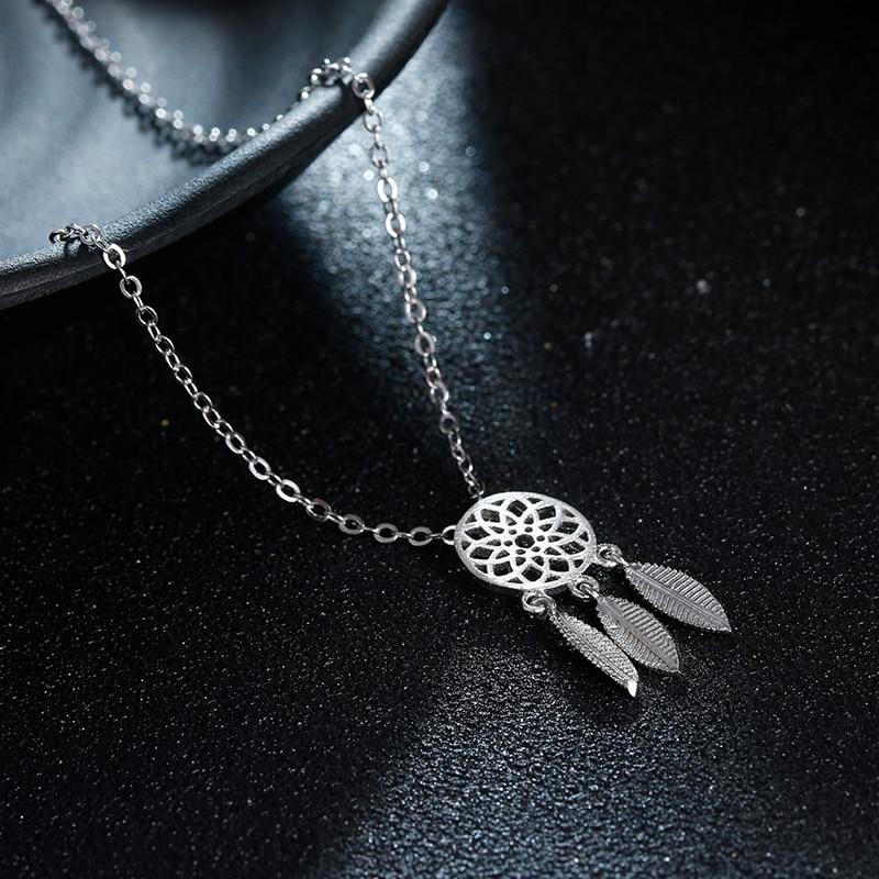 100% 925 plata esterlina moda girasol señoras collares pendientes joyería de cadena corta mujeres regalo de cumpleaños venta caliente