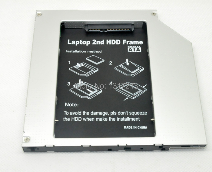 NEW 2nd Hard Drive HDD caddy adapter FOR Apple Macbook MBP A1211 A1212 Non Unibody 9.5MM