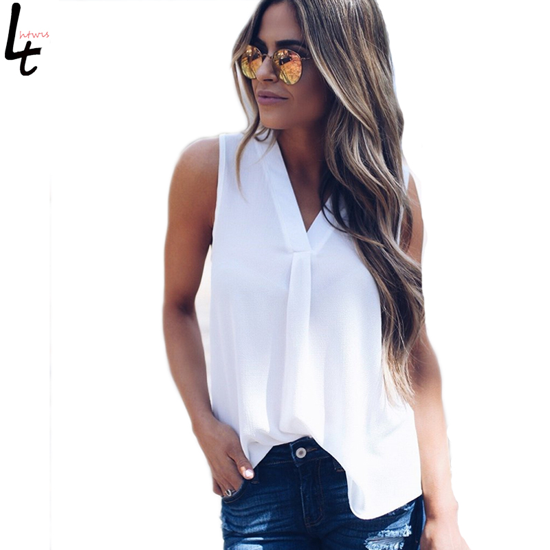 Plus Size Clothing Women'Fashion Tank Tops Solid Color 10 Colors Casual Loose Women V-neck Sleeveless Shirts