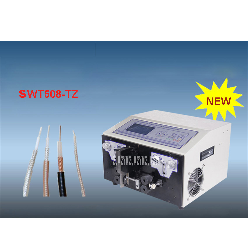 High Quality SWT508-TZ Coaxial Cable Automatic Computer Wire Stripping Machine 110V/220V 300W 3000-6000Strips/Hour 0.1-4.5mm2