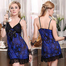 e49c9ed9750 Pink Blue Red Dot Lingerie Babydoll Chemise Dress Ladies Lace Nighty XS S M  4-10