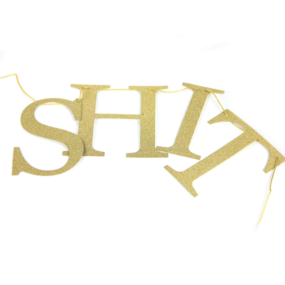 Glitter Gold Sparkling Holy Shit You 39 re Old Banner 30th 40th 50h 60th 70th 80th 90th Funny Birthday Bunting Banner Party Decor in Party DIY Decorations from Home amp Garden