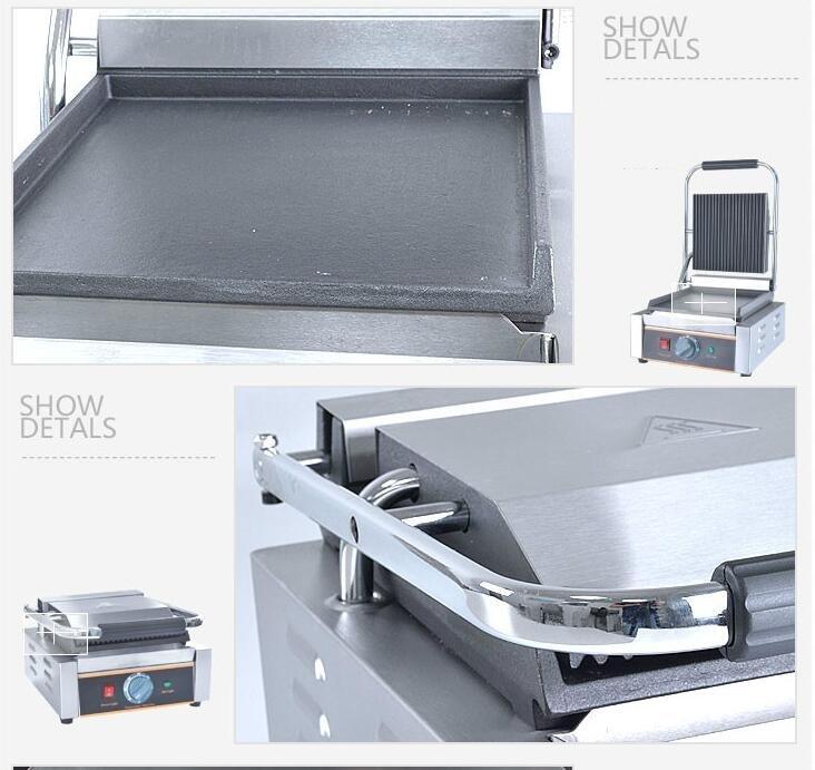 220V Multifuncional Comercial Elétrica Grill Contato Único