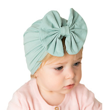 baby big bow Headband Updated Version Baby beanie Hat Girl Soft Cute Turban Knotted hair band