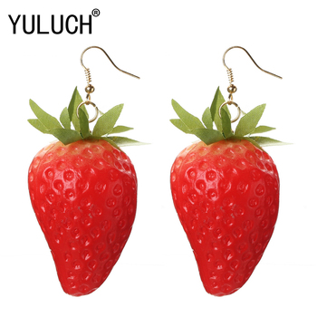 Novelty Exaggerated Fruit Pendant Earrings for Women Vacation Beach Scenery Special Jewelry for Girls Ladies Party.jpg 350x350 - Novelty Exaggerated Fruit Pendant Earrings for Women Vacation Beach Scenery Special Jewelry for Girls Ladies Party Accessories