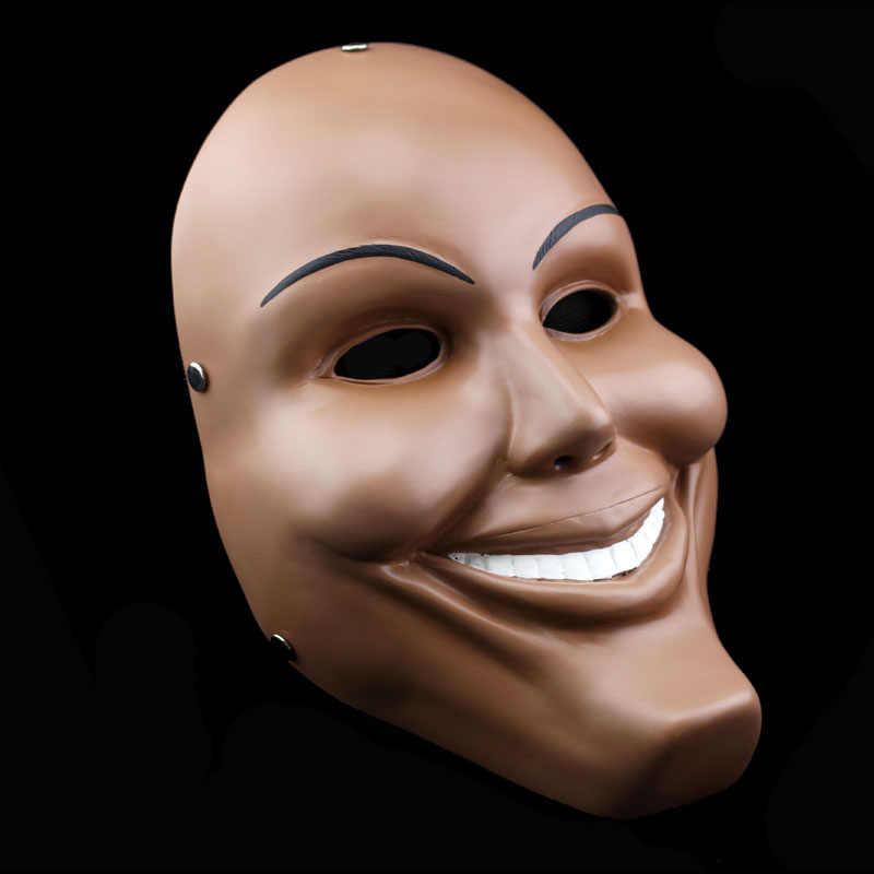 1 шт. Хэллоуин Коллекционное издание фильм тема очистки, потому что человек улыбка лицо вечерние воспроизводит маски из ПВХ забавная маска Masker