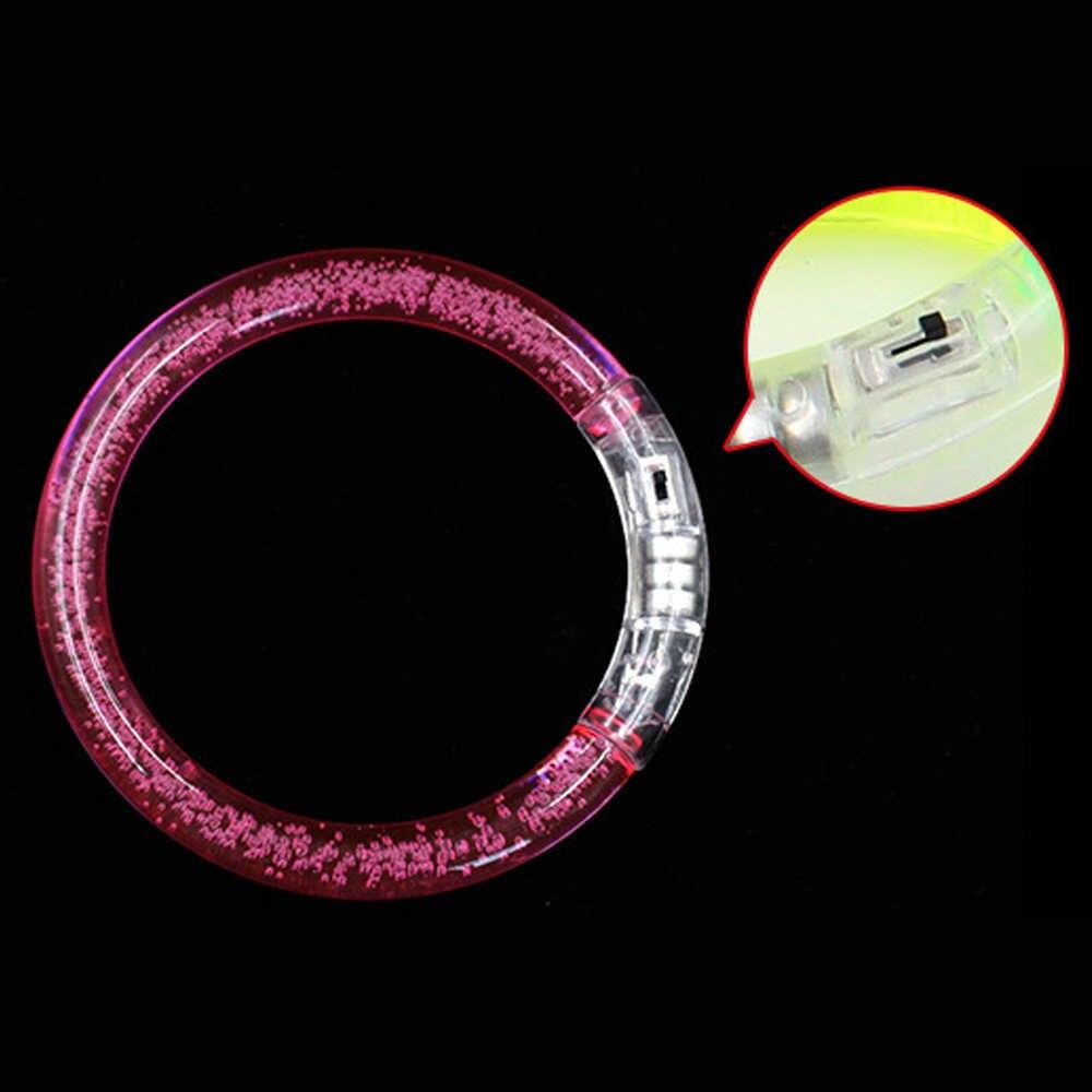 10 шт./компл. светящийся браслет светодиодный сверкающий браслет Многоцветный светящийся акриловый браслет люминесцентные игрушки вечерние подарок на праздник