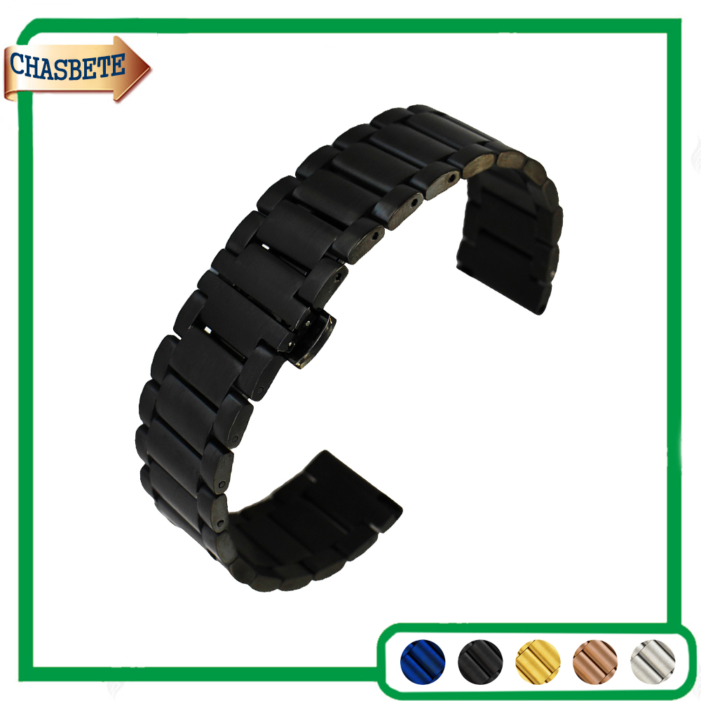 Stainless Steel Watch Band Universal Watchband 16mm 20mm 22mm Men Women Quick Release Metal Strap Belt Wrist Loop Bracelet Blue ceramic stainless steel watchband universal quick release watch band butterfly clasp wrist strap 12mm 14mm 16mm 18mm 20mm 22mm page 9