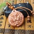 Nuevo Diseño Lindo de la Cabeza Del Tigre de Estilo de Talla de Madera Colgante Llavero Llavero Coche Para Mujeres Y Hombres de Regalos