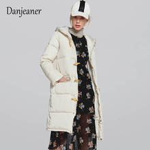 Danjeaner New Parka Women 2018 Winter Medium Length Jacket  Hooded Ladies Coats Female Thick Cotton Padded Lining