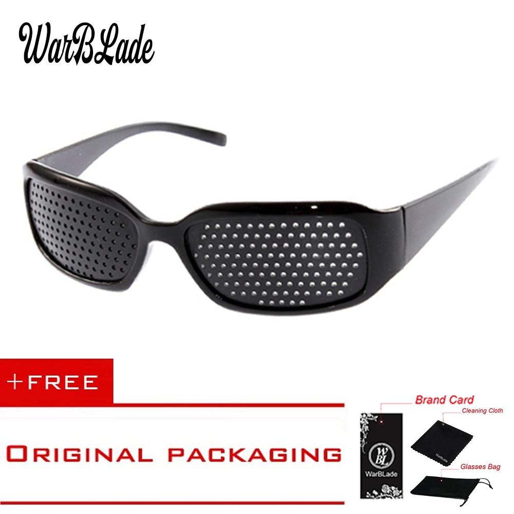 WarBLade Child Anti-myopia Glasses Women Vision Care Pin hole Sunglasses Eyesight Improve Natural Healing Anti-fatigue 1