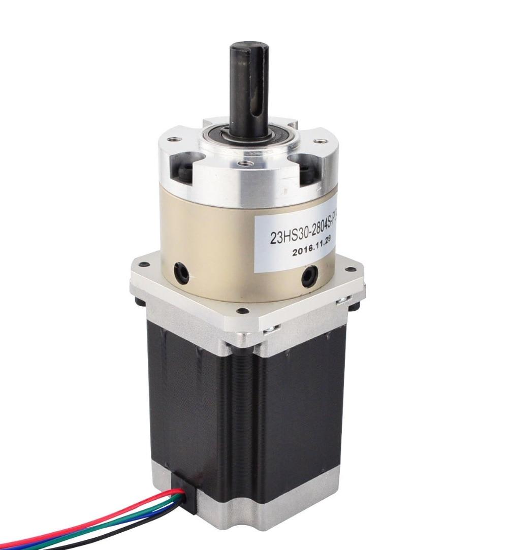 Nema 23 Geared Stepper Motor 2.8A 4-Lead Bipolar Gear Ratio 4:1 Planetary Gearbox 3D Printer CNC Robot geared stepper motor 4 lead nema 11 stepper motor 30mm planetary gearbox gear ratio 9 1 cnc robot 3d printer pump
