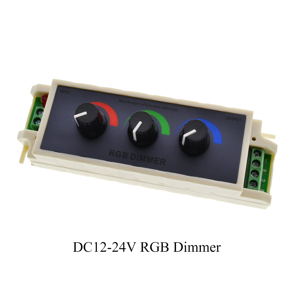 RGB Dimmer Stufenlos Einstellbar Schalter FÜHRTE Streifen Lichter ...