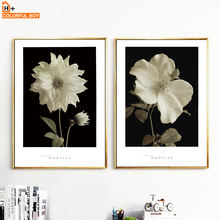 Flowers Wall Art Canvas Painting Posters And Prints Black And White Nordic Poster Canvas Art Wall Pictures For Living Room Decor wall art canvas painting 3d flower picture posters and prints golden flowers poster wall pictures for living room home decor