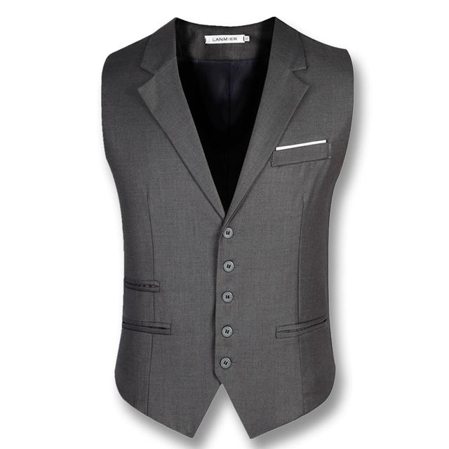 2016 Homens de Negócios Blazers Jaquetas Coletes À Prova de Vestido Colete Masculino dos homens Moda Casual Slim Fit Sem Mangas Blazers Coletes Coletes