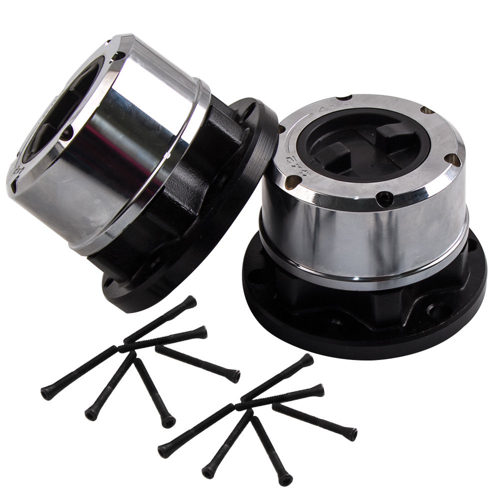 2PCS Front Driver & Passenger Side Locking Hub Set Free Wheel Hubs 6-stud For 92-93 Suzuki Samurai JA / JS For 89-97 Geo Tracker цена