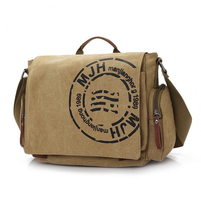 Hot sell 2017 casual men Tote messenger bags high quality men's Vintage travel bag male canvas shoulder bag classical design  цена и фото