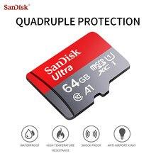 Classe SanDisk Cartão Micro SD originais 10 A1 16gb gb 64 32G 128G Cartões Micro TF Flash cartão SDXC SDHC Cartão de Memória para o Telefone Do Computador