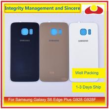 Original For Samsung Galaxy S6 Edge Plus G928 G928F Housing Battery Door Rear Back Glass Cover Case Chassis Shell Replacement