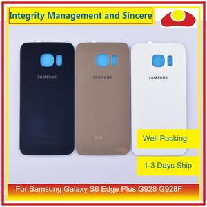 Image 1 - Original For Samsung Galaxy S6 Edge Plus G928 G928F Housing Battery Door Rear Back Glass Cover Case Chassis Shell Replacement