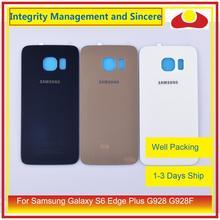Oryginalny do Samsung Galaxy S6 krawędzi Plus G928 G928F obudowa klapki baterii na wycieraczkę tylnej szyby pokrywy skrzynka podwozia Shell wymiana