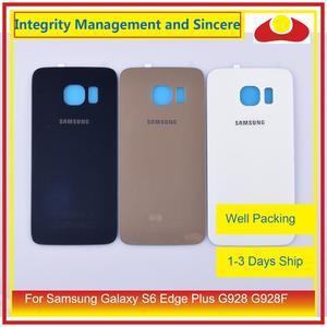 Image 1 - Oryginalny do Samsung Galaxy S6 krawędzi Plus G928 G928F obudowa klapki baterii na wycieraczkę tylnej szyby pokrywy skrzynka podwozia Shell wymiana