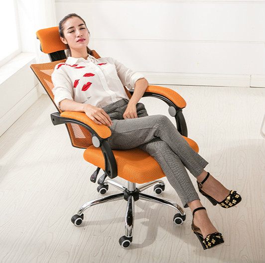 Computer Chair 360 Degree Rotating Mesh Household Office Chair Height Adjustable Meeting Leisure Chair With Armrests Lift Chair