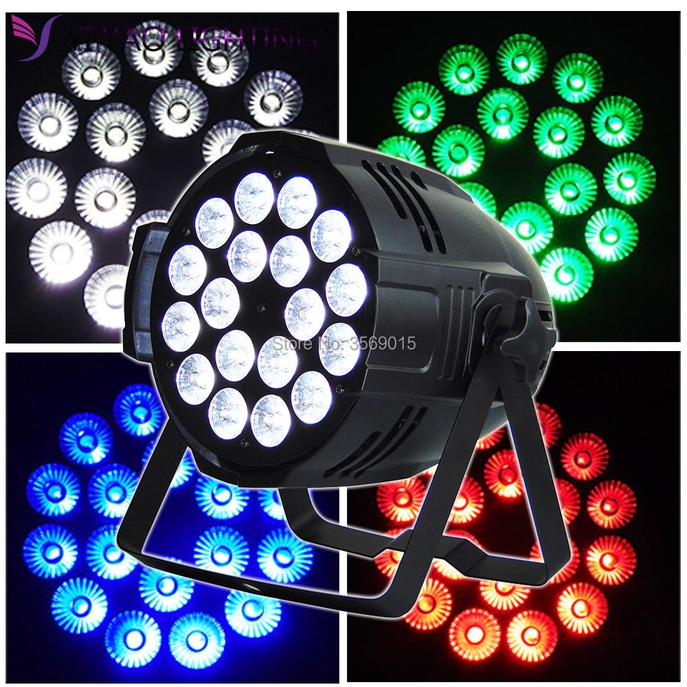 Aleacion aluminio 18X12W RGBW LED DJ Stage Lighting Par Light With DMX512 for disco DJ projector machine Party DecorationAleacion aluminio 18X12W RGBW LED DJ Stage Lighting Par Light With DMX512 for disco DJ projector machine Party Decoration