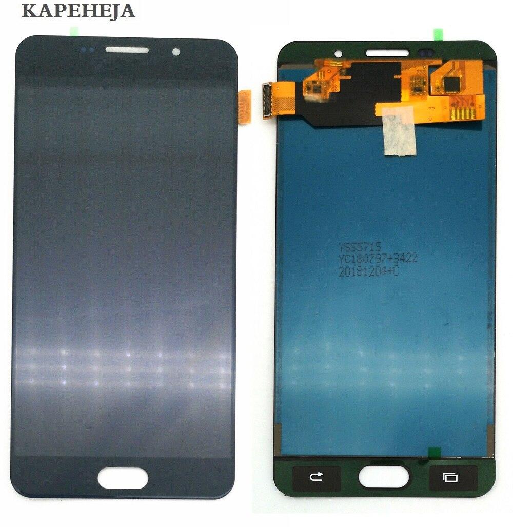 Cep telefonları ve Telekomünikasyon Ürünleri'ten Cep Telefonu LCD'leri'de Parlaklığı ayarlayabilir miyim lcd ekran Samsung Galaxy A7 2016 A710 A7100 A710F A710M lcd ekran dokunmatik ekranlı sayısallaştırıcı grup title=
