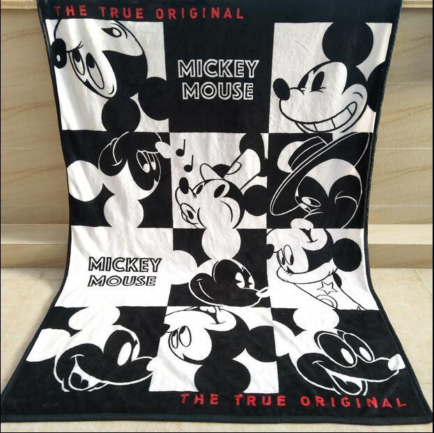 Del fumetto di Mickey Mouse Coperta 140X200 cm Raschel Coperta Del Bambino Del Bambino Della Decorazione Della Casa Morbido Coperta Calda