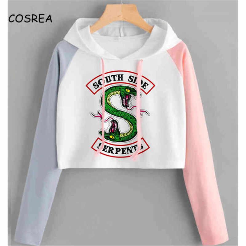 Riverdale Hoodie Sweatshirts South Side Serpents Streetwear Tops Spring Hoodies Female Hooded Harajuku Sweatshirt